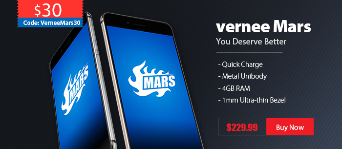 $30 OFF Vernee Mars Side-Mounted Fingerprint Smartphone,Now $199.99 Only,Coupon:VerneeMars30,Expires:Oct.20@TOMTOP.com