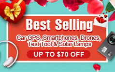 Best Selling Car GPS, Smartphones, Drones, Test Tool & Solar Lamps, Up to $70 OFF