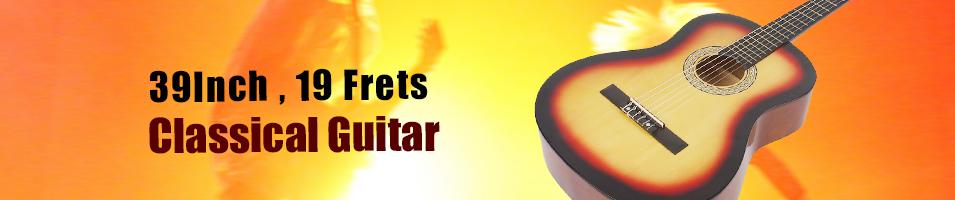 """39Inch , 19 Frets   Classical Guitar"""
