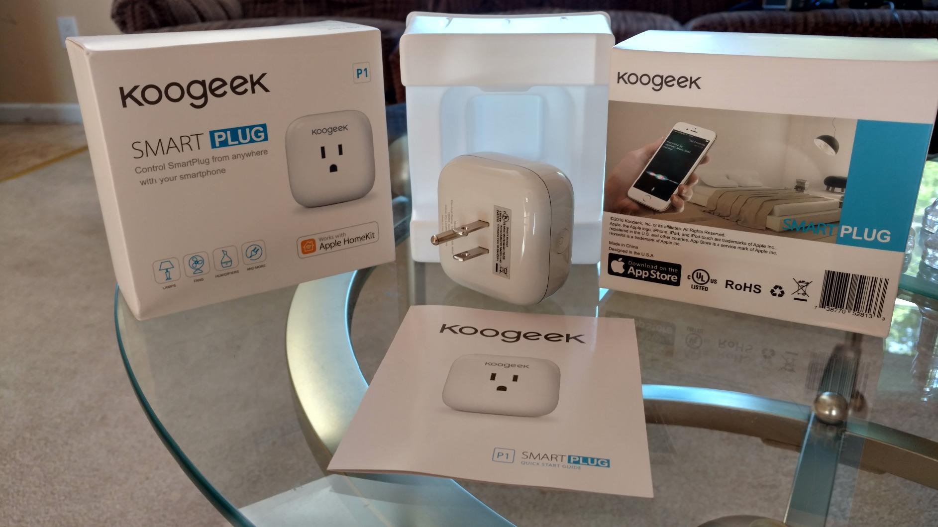Koogeek Wi-Fi Enabled Improved Smart Plug Works with Apple HomeKit and  Amazon Alexa