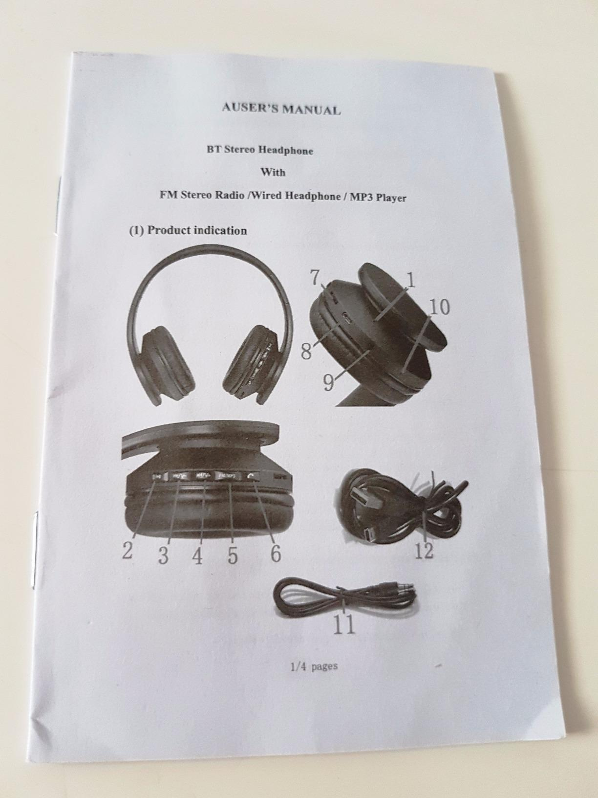 Andoer Lh 811 Foldable 4 In 1 Wireless Bt Edr Headset With Mic Sales Speaker Bluetooth Vivo V9 Ori Is This Helpful 0
