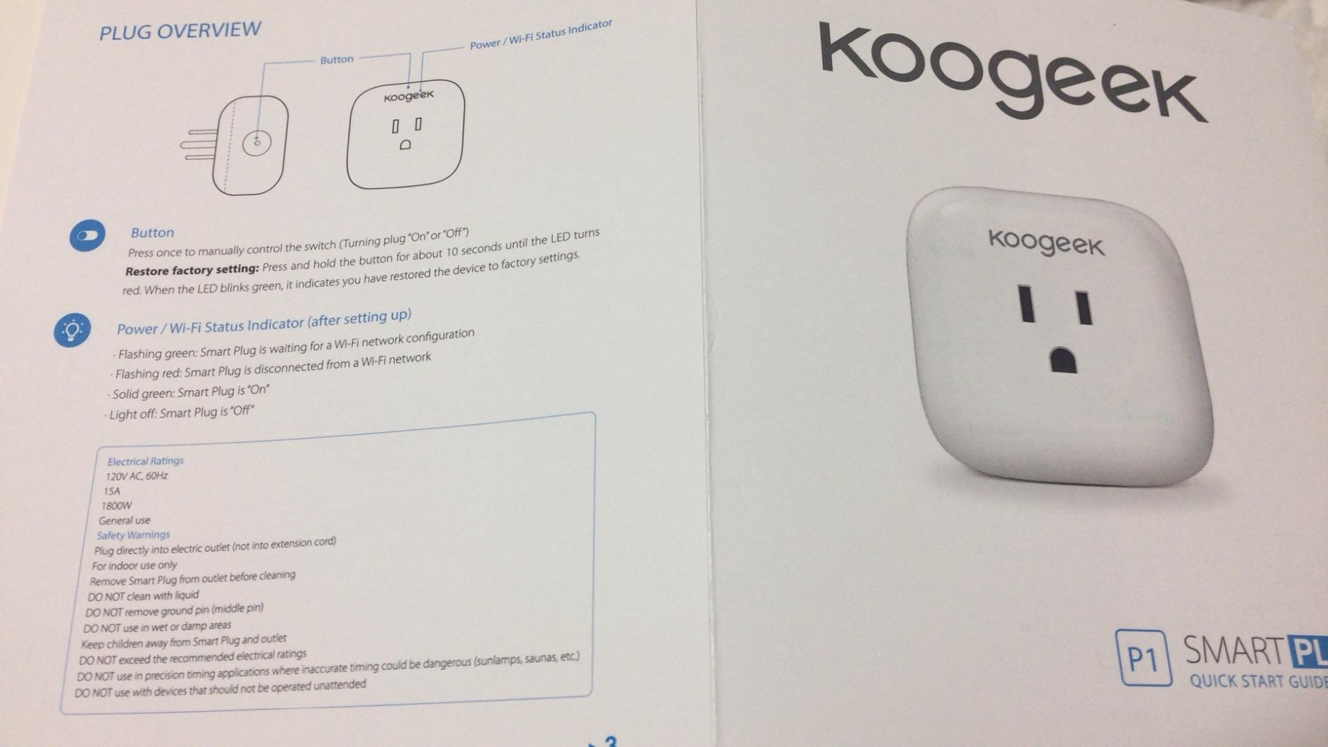 Koogeek Wi Fi Enabled Improved Smart Plug Works With Apple Homekit To Legally In Canada Add 240v Power Outlet From Stove