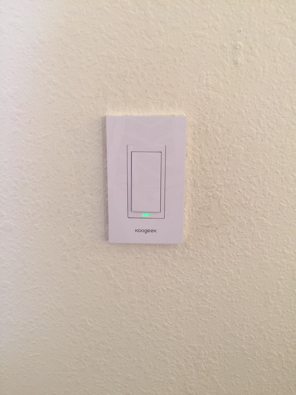 Two Gang Wi Fi Enabled Smart Light Switch Turns On Off The And One 2way That Fan I Am Now Able To My From Phones Dont Have Come Back Into House When Kids Forget Turn