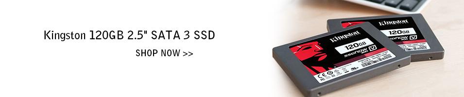 """Kingston 120GB 2.5"""" SATA 3 SSD"""