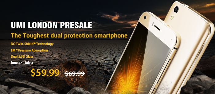 14% OFF UMi LONDON Smartphone,Now $59.99 Only,Expires:Jul.3@TOMTOP.com