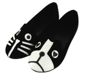 New Fashion Women's Cute Cat Dog Face Low Heel Comfort Flats Shoes Loafers