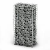 Gabion Basket Wall with Lids Galvanized Wire 100 x 50 x 30 cm