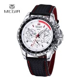 MEGIR Luxury Casual Sports Watch Brand Quartz Waterproof Clock Watch Fashion Men