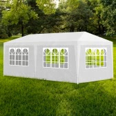 White Party Tent with 6 Walls 3 x 6 m