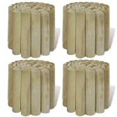 4 pcs 250 x 20 cm Log Roll Lawn Edging