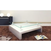 Glass coffee table square white