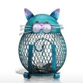 TOOARTS Cat coin box  Piggy bank Animal ornament  Creative ornament Iron art ornament  Handcrafts Interior decoration