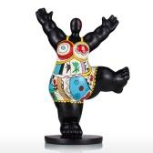 Gym Fat Woman Tooarts Fiberglass Sculpture Exaggerative Modeling Decorativee Ornament