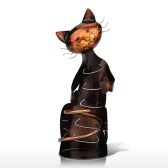 TOOARTS Cat shaped wine holder Wine shelf Metal sculpture Practical sculpture Home decoration Interior decoration Crafts