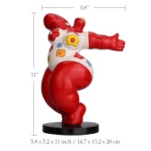 Dancing Fat Woman Tooarts Fiberglass Sculpture Exaggerative Modeling Decorative Ornament