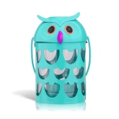 Owl candle holder(light blue) Hurricane lamp Practical ornament Creative ornament  Home Furnishing Articles