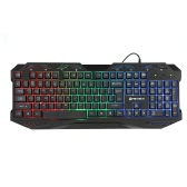 Fantech Professional High-quality Esport USB Wired 112 Keys Membrane Gaming keyboard with Colorful Backlit for Pro Gamer PC Desktop Laptop Mac LOL