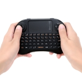 VIBOTON Mini Handheld 2.4G Wireless QWERTY Keyboard Mouse with Touchpad Joystick Remote Control for Android TV Box HTPC Laptop PC Xbox360 PS3