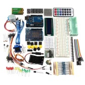 R3 UNO Learning Kit for Arduino With Stepper Motor 1602LCD Sensors Servo Breadboard Jumper Wire