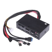 "5.25""All-in-One Media Dashboard Multi-Function Front Panel Card Reader USB 2.0 and USB 3.0 ESATA SATA"