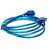 High-speed 1m/1.5m/2m/3m PVC Copper Transparent Blue Male to Female AM to AF USB 2.0 Extension Cable Cord Extender for PC Laptop Desktop Mouse Keyboard