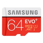 Samsung Memory 64GB EVO Plus MicroSDXC 80MB/s UHS-I (U1) Class 10 TF Flash Memory Card MB-MC64D/CN High Speed for Phone Tablet Cemara