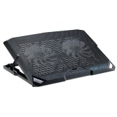 Portable USB Laptop Cooling Pad Cooler Base Chill Mat Radiator with Airflow Speed up to 1200 RPM  2 LED Fans  for Notebook  No More Than 15.6""