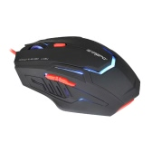 SAREPO Professional Esport 6 Buttons Optical USB Wired Programmable Gaming Mouse Adjustable 800/1200/1600/2400 DPI with Colorful LED Backlit for PC Desktop Laptop Gamer LOL Dota WOW