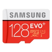 Samsung Memory 128GB EVO Plus MicroSDXC 80MB/s UHS-I (U1) Class 10 TF Flash Memory Card MB-MC128D/CN High Speed for Phone Tablet Cemara