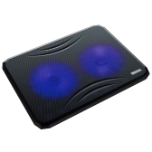 COOL COLD Ultra Slim Silent Laptop Notebook Cooling Cooler Pad Radiator with Dual 140mm Blue LED Fans