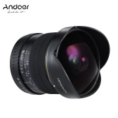 Andoer 8mm f/3.5 170° Ultra Wide Fisheye Aspherical Circular Lens for Canon EOS DSLR Cameras--Full Frame Compatible