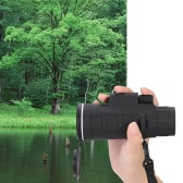 Outdoor Portable 35X50 Monocular Telescope Green Film Coated Optical Lens 128FT/9800YDS for Travelling Mountaineering Hunting Concerts Games