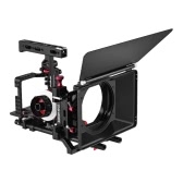Magnalium Alloy Camera Cage Rig w/ Follow Focus Matte Box for Sony A7II A7RII A7SII ILDC Mirrorless Camera