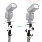 "U Shape Flash Metal Bracket Swivel Umbrella Holder 1/4""  3/8"" Screw Light Stand Adapter for Canon Nikon Speedlight"