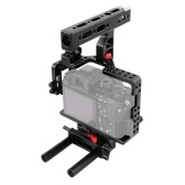 Magnalium Alloy Camera Cage Rig Stabilizer Movie Film Support Kit for Sony A7II A7RII A7SII ILDC Mirrorless Camera