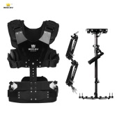 Wieldy HD-2600 Iron Triangle Lightweight Carbon Fiber Handheld Video Stabilizer with Steadycam Vest Arm Kit for DSLR Video Camera Camcorder Load Capacity 1-7kg