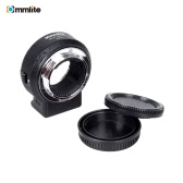 Commlite ENF-E1 Electric Lens Mount Adapter Ring AF Auto Focus VR Adjustable Aperture Exposure for Nikon F-Mount Lens for Sony E-Mount Camera
