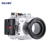 MEIKON SY-15 40m / 130ft Underwater Waterproof Camera Housing Transparent Waterproof Camera Case for Sony RX100 III