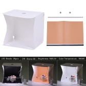 Andoer Q2A 40 * 35cm/15.7 * 13.7in Folding Collapsible Foldable 15 LED Mini USB Softbox Cube Lightbox Diffusion Tent Kit w/ 3 Colors Background for Canon Nikon Sony DSLR Camera Smartphone Photo Studio Shooting Photography
