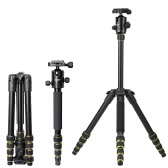 OBO Foldable Portable Extendable Aluminium Alloy DSLR Camera Tripod Unipod Monopod with Ball Head for Canon 760D 7D2 70D 5D2 5DS 5DSR for Nikon D750 D7200 D5500 D810 D610 for Sony A7 A7S A7R A7RII