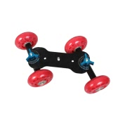 Table Top Dolly Mini Car Skater Track Slider Super Mute for DSLR Camera Camcorder Red
