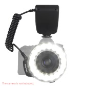 Macro 18PCS LED Ring Flash Light RF600D Speedlite for Nikon Canon Olympus Panasonic DSLR Cameras