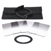 Andoer P Series Gradual Graduated Neutral Density Resin Filter Set Graduated Filters 0.3ND 0.6ND 0.9ND 1.2ND 67mm Adapter Ring Square Filter Holder with Bag for DSLR Camera