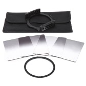 Andoer P Series Gradual Graduated Neutral Density Resin Filter Set Graduated Filters 0.3ND 0.6ND 0.9ND 1.2ND 77mm Adapter Ring Square Filter Holder with Bag for DSLR Camera