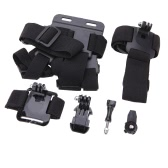 """Andoer 7in1 Chest Belt Strap J-Hook Surface Buckle Mount Adapter 1/4"""" Connector Accessories Set Kit for GoPro Hero Series & for Sony Action Cam HDR-AS15/AS20/AS30V/AS100V/AZ1"""