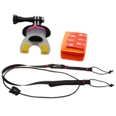 Andoer Surfing Skating Shoot Dummy Bite Mouthpiece Mouth Mount + Floaty + Neck Lanyard for GoPro Hero 4/3+/3/2/1 Camera