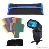 Universal 20 Colors Color Flash/Speedlite/Speedlight Color Filter Kit with Magic Strap Bag for Canon Nikon Sony Pentax Olympus and Other Flashes