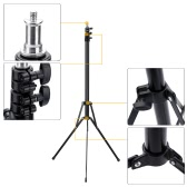 "2.1m / 6.9ft Portable Photo Studio Light Stand with 1/4"" Screw for Video Portrait Product Photography"