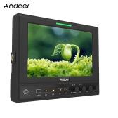 Andoer 662/S 7 Inch IPS 1280*800 3G-SDI Camera Field Monitor with HDMI & SDI Cross Conversion Color/RGB/Brightness Histogram Waveform Vectorscope Audio Level Meter Peaking Filter False Color for Canon Nikon Sony