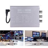 Feelworld 1080P SDI HDMI Video Audio Cross Converter Adapter SDI/HDMI Input HDMI/2-way SDI Output Broadcast Support 3G/HD/SD-SDI Conversion